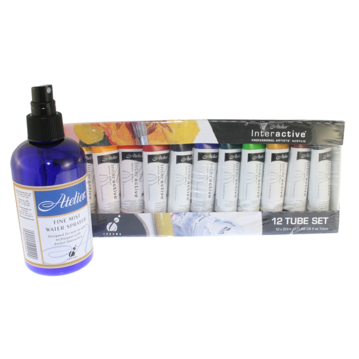 Chroma atelier interactive acrylic set 12 x 20ml tubes and for Chroma mural paint markers
