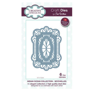 Craft Die CED10016 Sue Wilson Indian Ocean Collection - Seychelles Preview