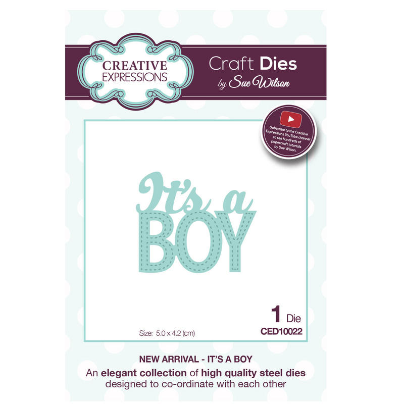 View Item Craft Die CED10022 Sue Wilson New Arrival Collection - It's A Boy