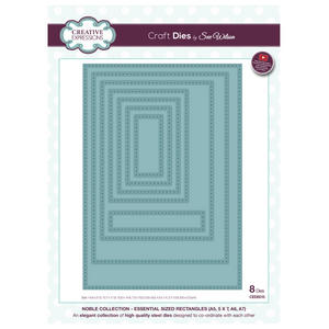 Craft Die CED5515 Sue Wilson Noble Collection - Essential Sized Rectangles Preview