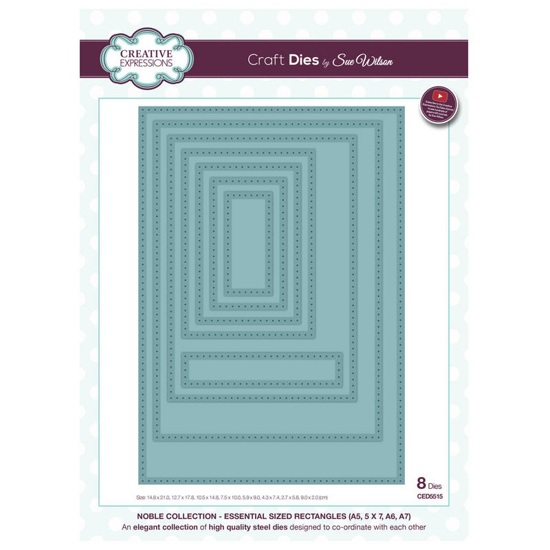 View Item Craft Die CED5515 Sue Wilson Noble Collection - Essential Sized Rectangles