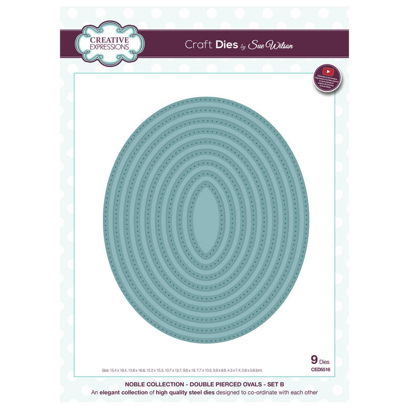 View Item Craft Die CED5516 Sue Wilson Noble Collection - Double Pierced Ovals Set B