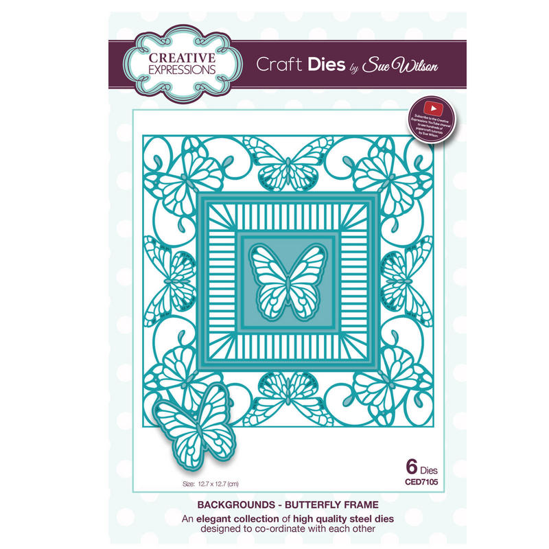 View Item Craft Die CED7105 Sue Wilson Background Collection - Butterfly Frame