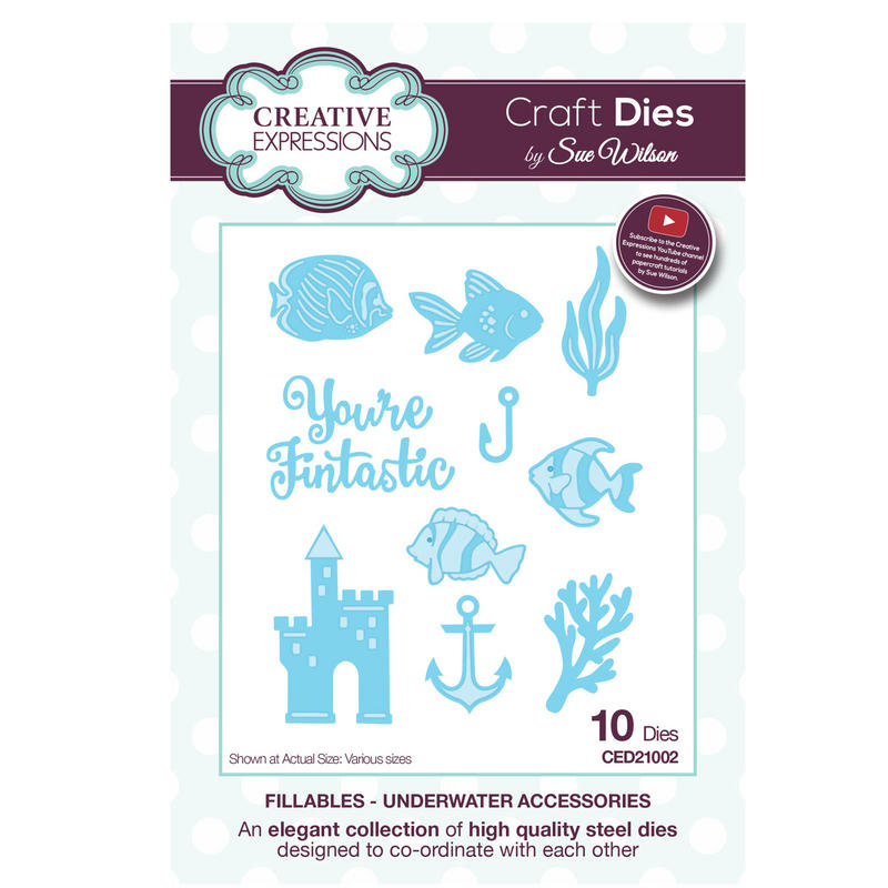 View Item Craft Die CED21002 Sue Wilson Fillables Collection - Underwater Accessories
