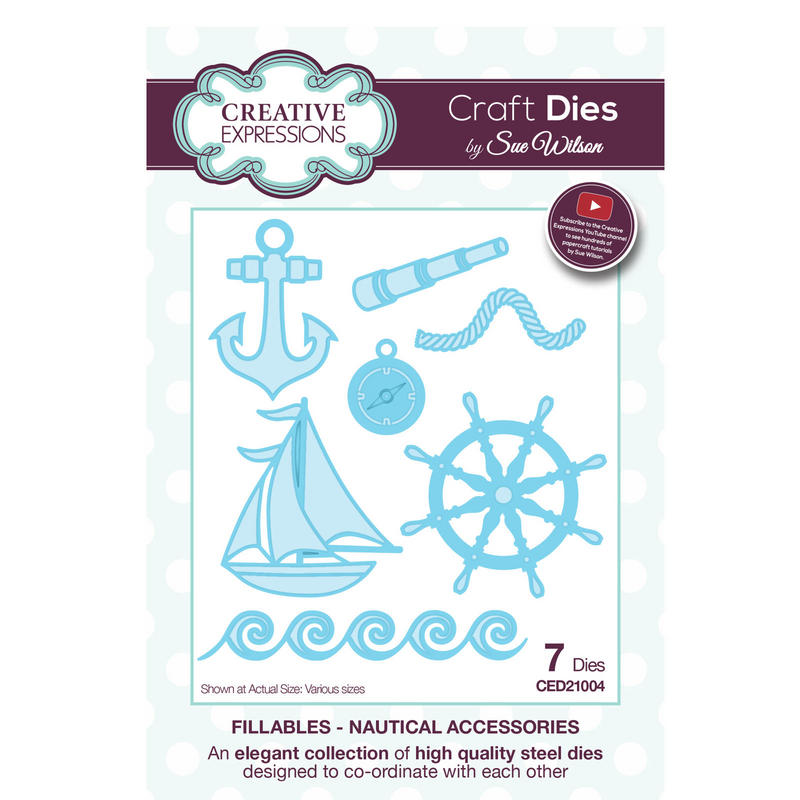 View Item Craft Die CED21004 Sue Wilson Fillables Collection - Nautical Accessories