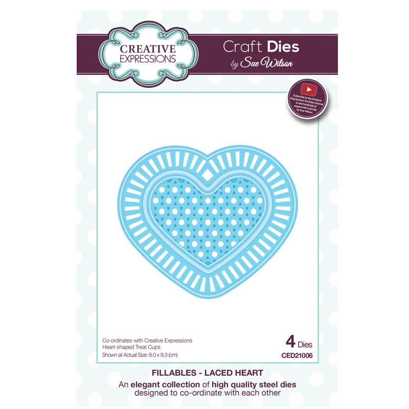 View Item Craft Die CED21006 Sue Wilson Fillables Collection - Laced Heart