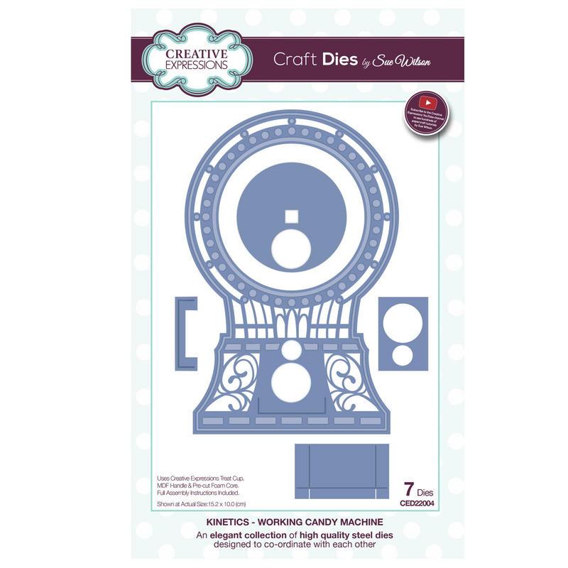 View Item Craft Die CED22004 Sue Wilson Kinetics Collection - Working Candy Machine