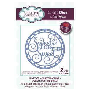 Craft Die CED22006 Sue Wilson Kinetics - Candy Machine - Sweets For The Sweet Preview