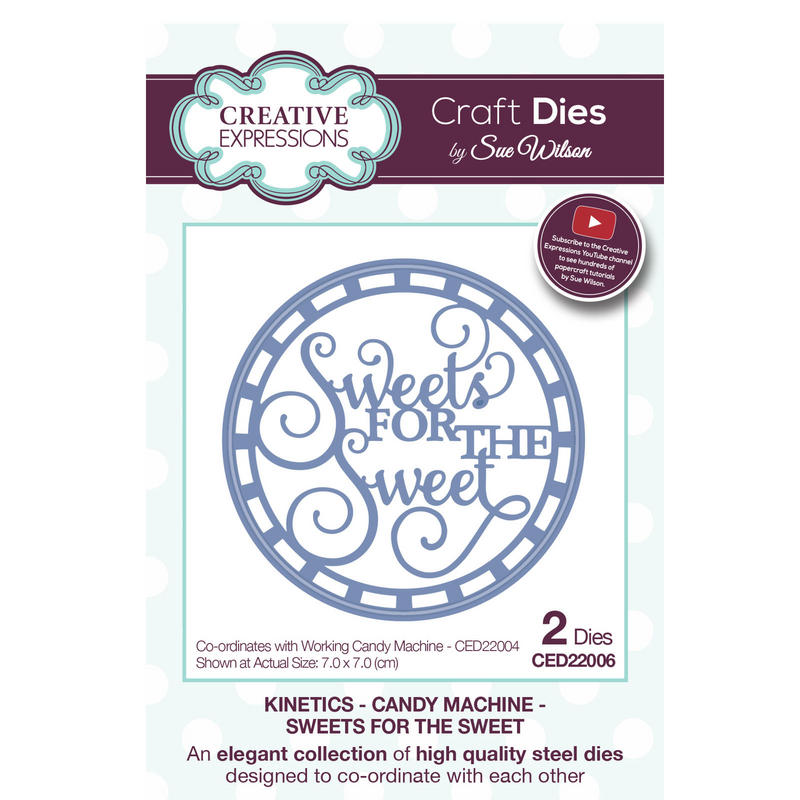 View Item Craft Die CED22006 Sue Wilson Kinetics - Candy Machine - Sweets For The Sweet