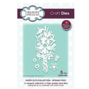Creative Expressions CEDPC1006 Paper Cuts Craft Die - Spring Posy Preview