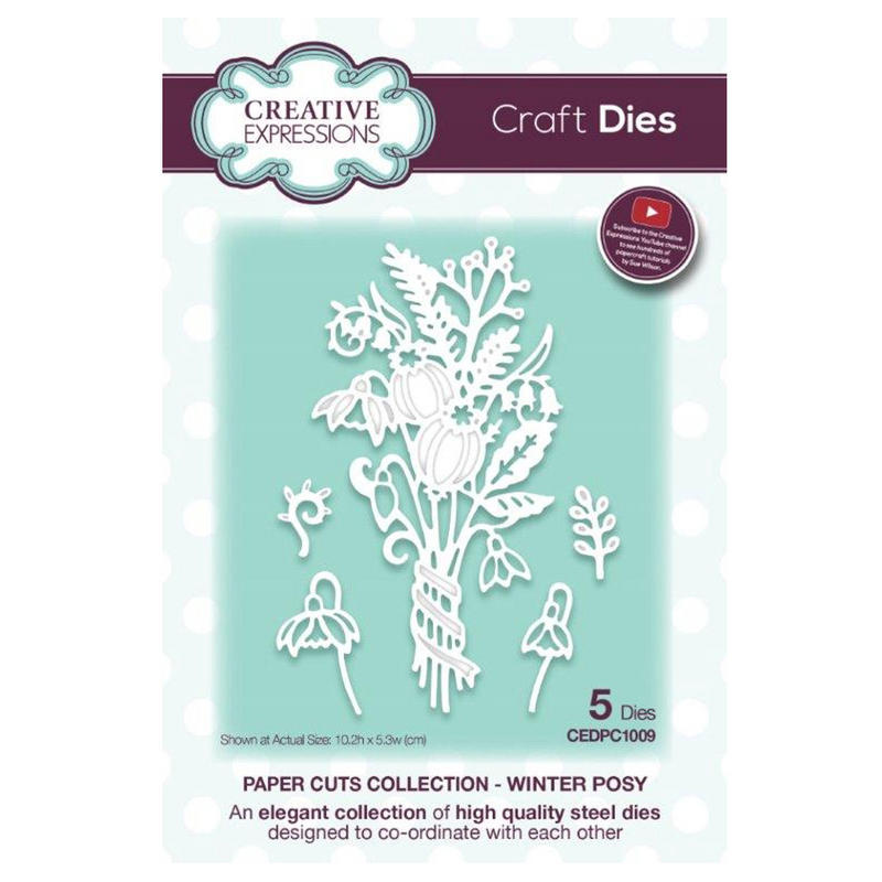 View Item Creative Expressions CEDPC1009 Paper Cuts Craft Die - Winter Posy