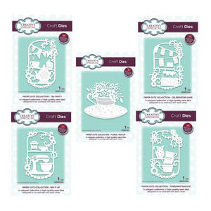 Creative Expressions Paper Cuts Craft Die Set - Tea Party Preview
