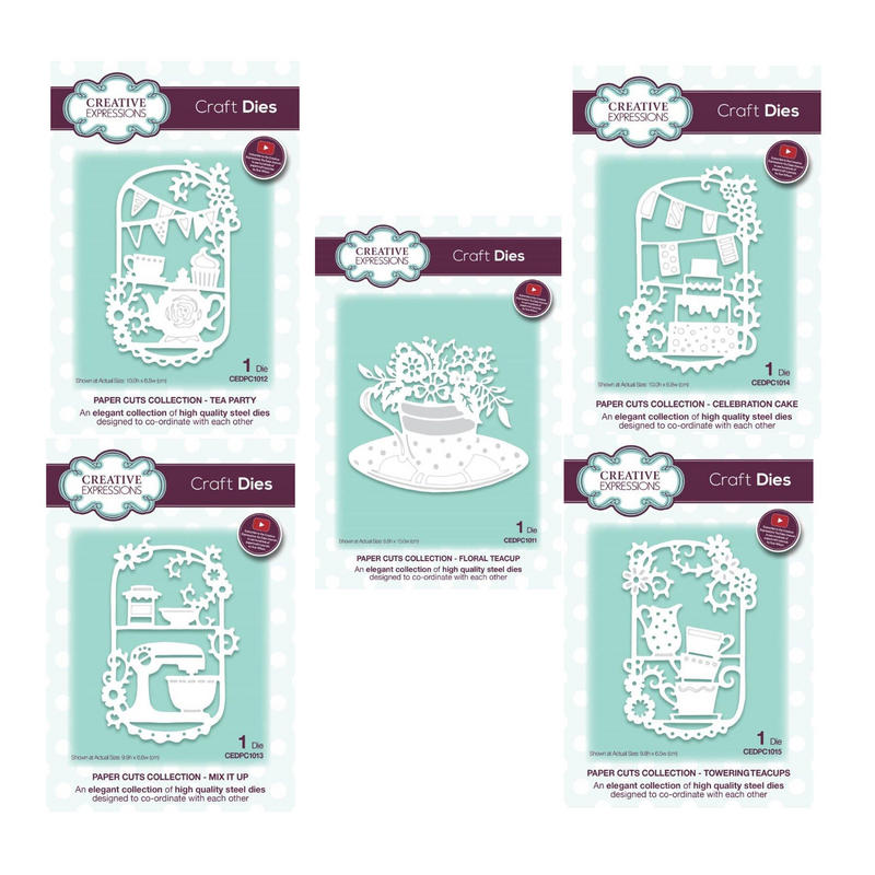 View Item Creative Expressions Paper Cuts Craft Die Set - Tea Party