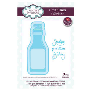 Craft Die CED21008 Sue Wilson Fillables Collection - Message in a Bottle Preview