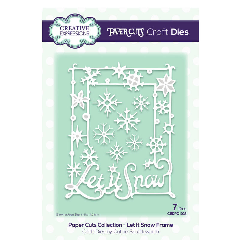 View Item Creative Expressions Die CEDPC1023  Paper Cuts - Let It Snow Frame