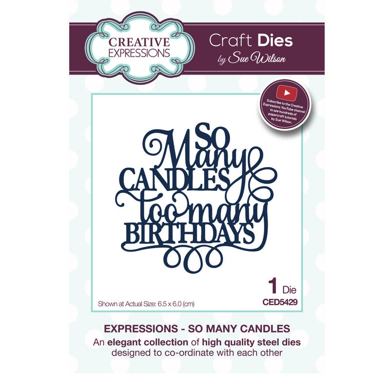 View Item Craft Die CED5429 Sue Wilson Expressions Collection - So Many Candles