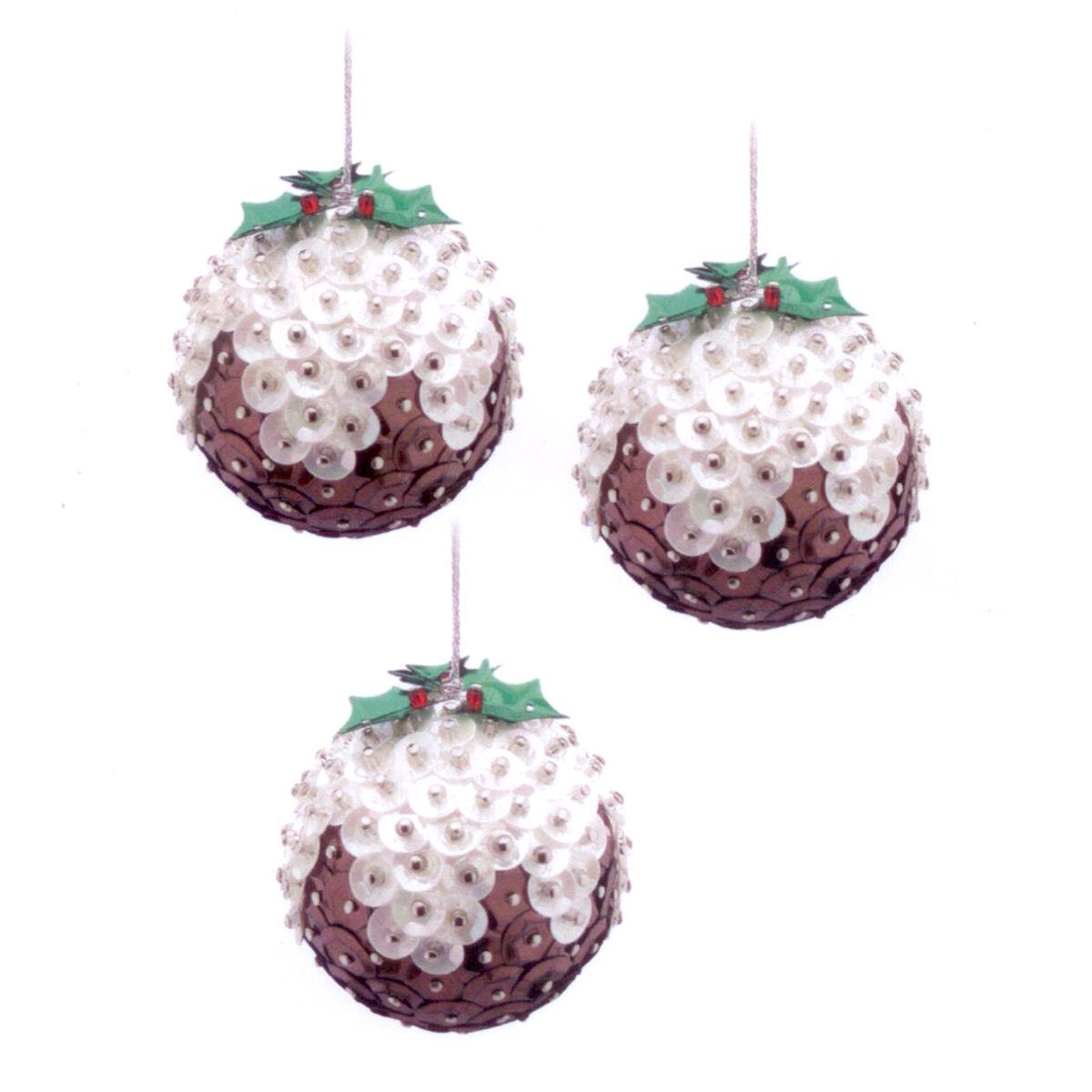 Pinflair Xmas Decoration Kit Mini Christmas Puddings Enlarged Preview