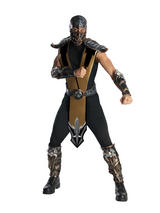 View Item Adult Licensed Mortal Kombat Scorpion Fancy Dress Costume Mens Gents Male