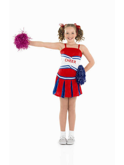 Child Age 10 12 Years Cheerleader Pom Pom Girl Fancy Dress