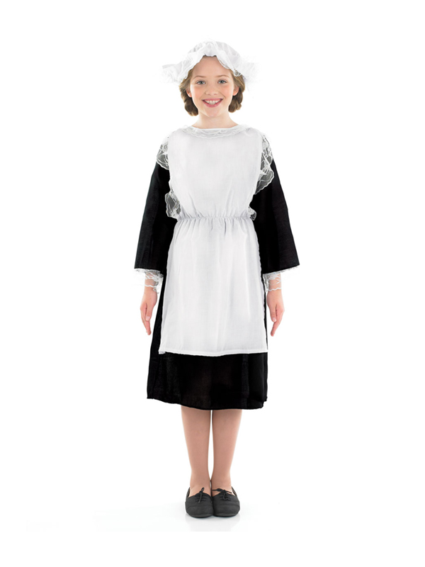 Child Victorian Girl Fancy Dress Costume Maid Cook Servant ...