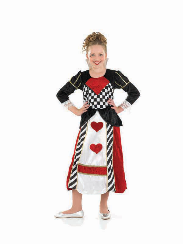 Child age 4 6 years queen of hearts new fancy dress costume kids girls