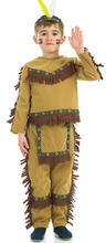 View Item Child Indian Chief Fancy Dress Costume Native American Brave Kids Boys Male