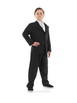 View Item Child Gangster Suit Fancy Dress Mobster Costume 20s Bugsy Malone Kids Boys Male