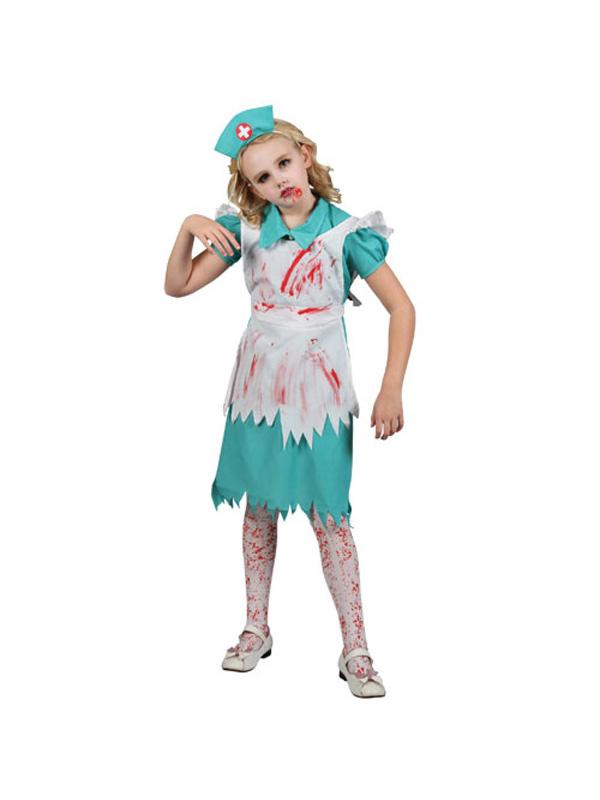 child zombie nurse fancy dress costume halloween kids - Dead Ballerina Halloween Costume