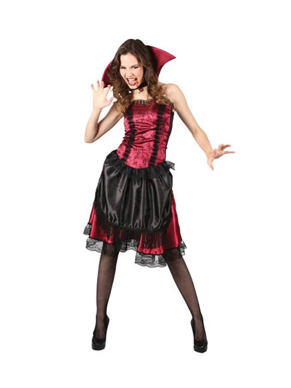 Adult-Victorian-Vampiress-Fancy-Dress-Costume-Sexy-Halloween-Ladies-Womens-BN