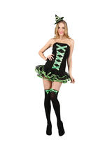 Ladies Green Bewitched Babe Costume