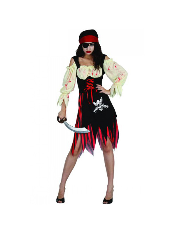 Adult-Zombie-Pirate-Sailor-Fancy-Dress-Costume-Halloween-Ladies-Womens-Female