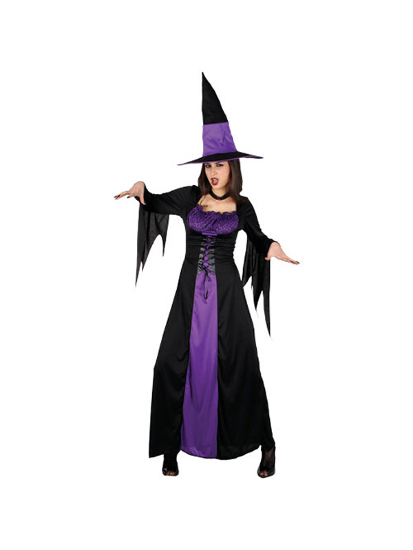 Adult Spellbound Witch Fancy Dress Costume Halloween Horror Ladies Womens BN