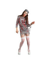 Ladies Bloody Zombie Convict Vampiress Costume