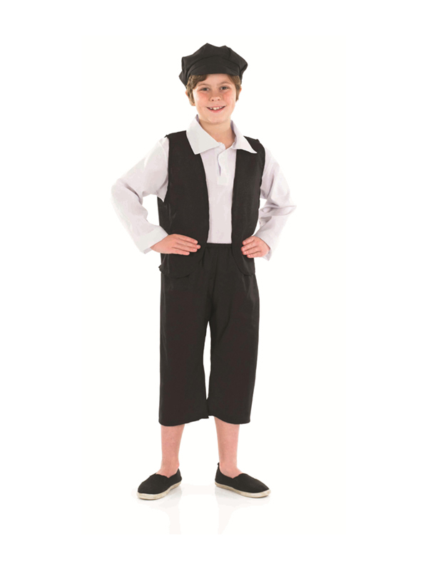 Child-Victorian-Boy-Fancy-Dress-Costume-Pauper-Street-Urchin-Kids-Boys-Male-BN
