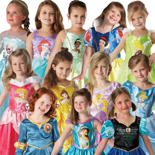 Child-Classic-Disney-Princess-Fancy-Dress-Girls-Outfit-New-Book-Week-Kids-Party