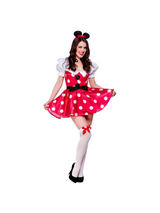 View Item Adult Sexy Mouse Fancy Dress Costume Fairytale Outfit Minnie Ladies Womens Maid