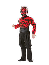 View Item Child Licensed Star Wars Darth Maul Fancy Dress Deluxe Muscle Chest Costume Boys