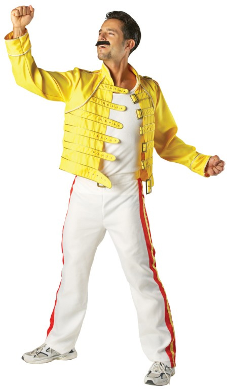 Dettagli su Adult Freddie Mercury Queen Wembley  86 Outfit Fancy Dress    Queen Freddie Mercury Outfit