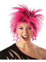 Eighties Hot Pink Spiky Wig