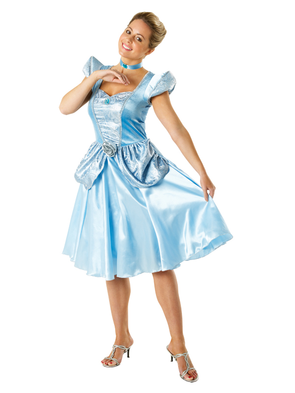 Adult Licensed Disney Princess Cinderella Outfit Fancy Dress Costume ...