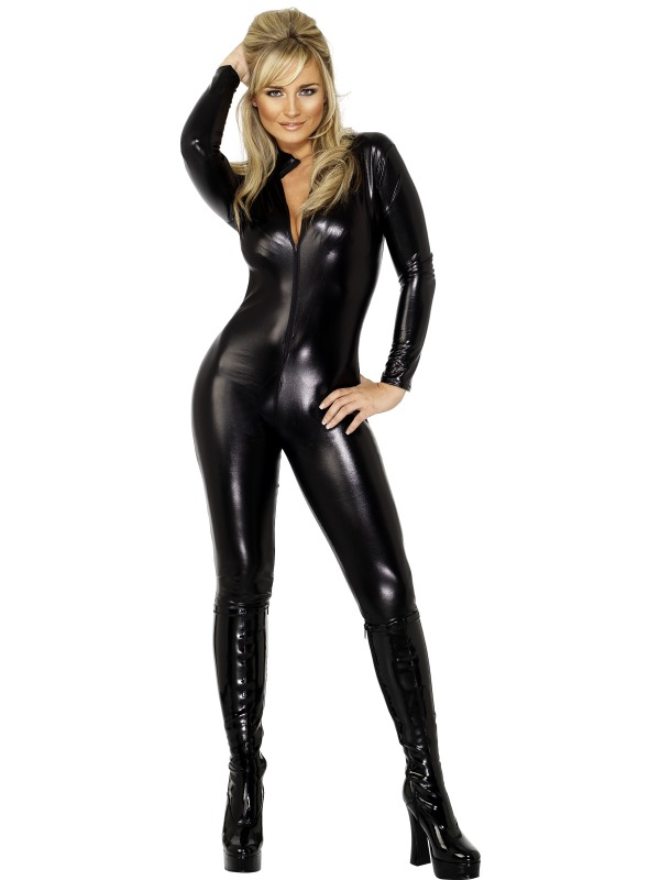 Leather mistress outfit