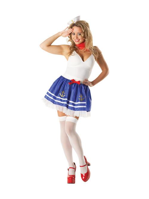 Details adult sailor tutu set fancy dress costume sexy ladies womens