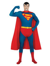 View Item Adult Lycra Body Suit Superman 2nd Skin Bodysuit Fancy Dress Superhero Costume