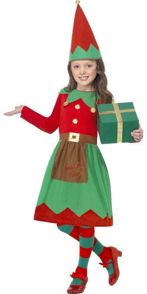 Child Santa's Little Helper Elf Fancy Dress Costume Christmas Kids ...