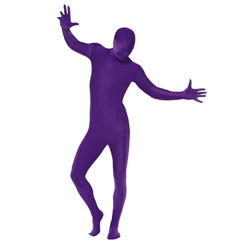 Adult-Second-Skin-Full-Body-Lycra-Fancy-Dress-Costume-New-Gimp-Outfit-Bum-Bag