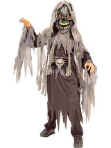 View Item Child Evil Skull Skeleton Kids Fancy Dress Costume Halloween Kids Boys Girls