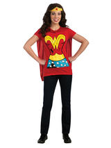 Ladies Wonder Woman T-shirt and Cape