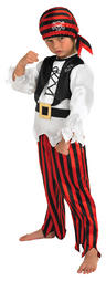 View Item Child Raggy Pirate Party Outfit New Fancy Dress Costume Caribbean Kids Boys