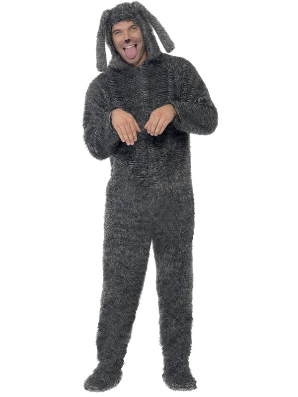 Adult-Large-Fluffy-Dog-Onesie-Fancy-Dress-Costume-Animal-Puppy-Mens