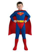 View Item Child Licensed Superman Party Outfit New Fancy Dress Costume Superhero Kids Boys